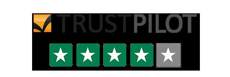 Trust Pilot Rating 4/5 Stars